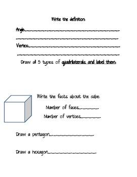 Geometry/Polygon Worksheet 2.G.1