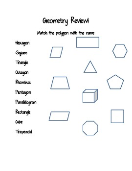Geometry/Polygon Worksheet 2.G.1