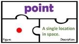 Geometry 4.6A Math Lines Segments Rays Angles Tek 4.6C Vocabulary Puzzles