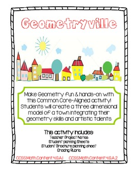 Geometryville: Common Core Aligned Math Activity