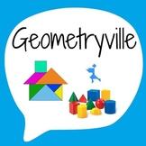 Geometryville - Geometry Drawing Activity - Creative Math Art
