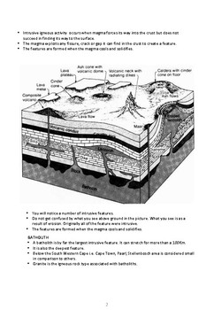 Geomorphology - Intrusive Igneous Activity and Associated Landforms