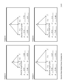 Geomtric Mean (Quiz)