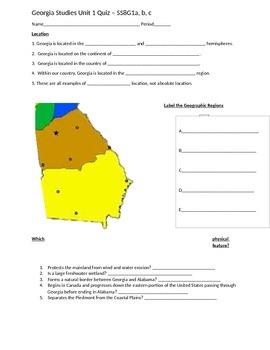 Georga Geography Quiz