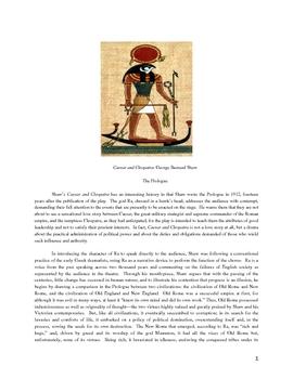 George Bernard Shaw: Caesar and Cleopatra