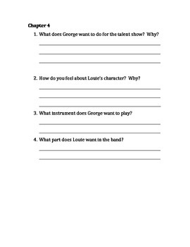George Brown Class Clown Trouble Magnet Comprehension Questions