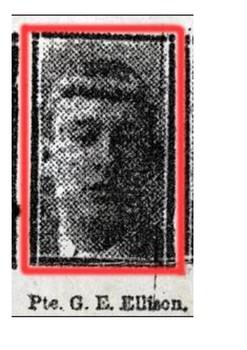 George Edwin Ellison Last British Soldier Killed in World War One Word Search