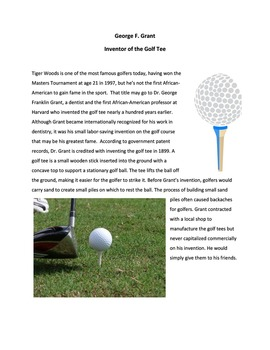 George F. Grant: Inventor of the Golf Tee