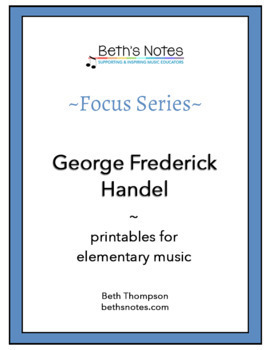 George Frederick HANDEL: Handouts & Assessment