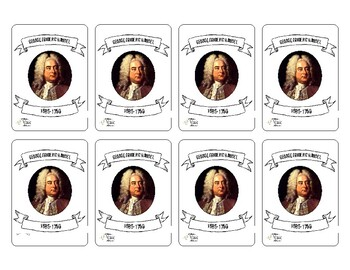 George Frideric Handel Composer Card