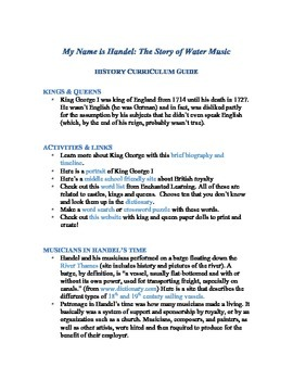 George Frideric Handel: The Story of Water Music Curriculum Guide