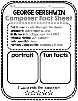 Gershwin, Classical Composer, September, Autumn, Handwriting, Music, Jazz, USA