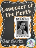 George Gershwin Composer of the Month Bulletin Board {Yout