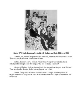 George H. W. Bush - A Short Biography for Kids (with review quiz)