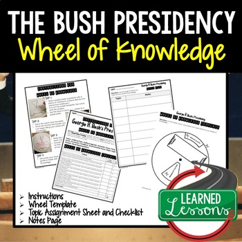 George H.W. Bush's Presidency Activity, Wheel of Knowledge (Interactive Notebook