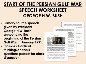 George H.W. Bush - Persian Gulf War Speech - Global/World/
