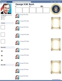 George H.W. Bush Presidential Fakebook Template