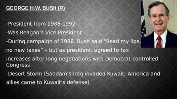 George HW Bush and Bill Clinton Powerpoint slideshow