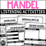 George Handel Composer Listening Activities, February, Classical Music