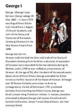 George I Handout