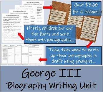 George III - 5th Grade & 6th Grade Biography Writing Activity