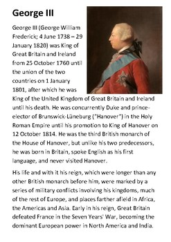George III Handout