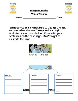 George & Martha: The Best of Friends Guided Reading Packet