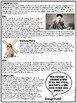 George Orwell Biography Reading Comprehension Worksheet, Animal Farm