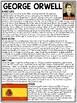 George Orwell Biography Reading Comprehension Worksheet, Animal Farm