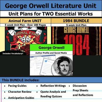 George Orwell Literature Unit - 1984 and Animal Farm