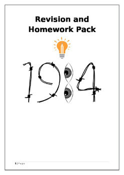 George Orwell Nineteen Eighty Four (1984) Revision and Homework Pack