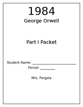 George Orwell's 1984 Part I worksheets