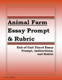 George Orwell's Animal Farm Essay Prompt and Rubric (Common Core Aligned)