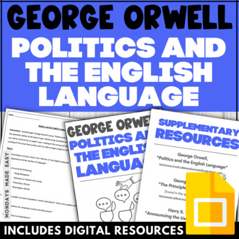 George Orwell's POLITICS AND THE ENGLISH LANGUAGE | Guided Analysis