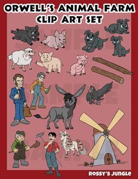George Orwell's 'Animal Farm' clip art set