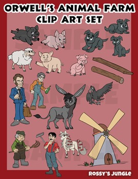 George Orwell's 'Animal Farm' clip art set