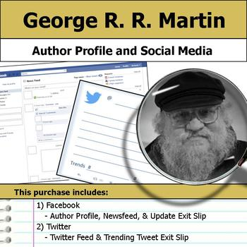George R. R. Martin - Author Study - Profile and Social Media