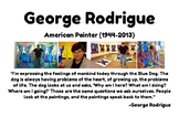 George Rodrique Blue Dog Watercolor Painting Project