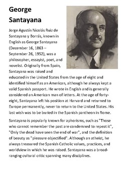 George Santayana Handout