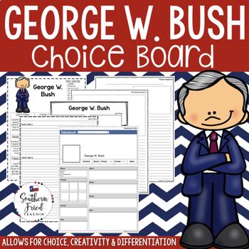 US Presidents - George W. Bush Choice Board