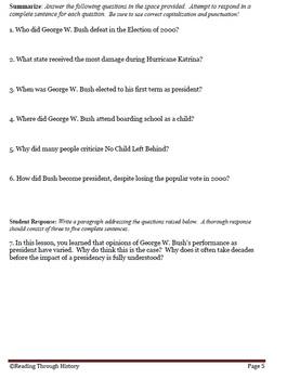George W Bush, Katrina, Patriot Act, and Homeland Security