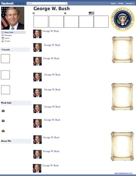 George W. Bush Presidential Fakebook Template