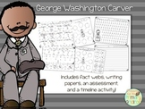 George W. Carver Activity Pack (fact webs/writing papers/timeline activity)