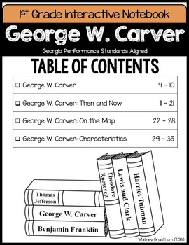 George W. Carver Interactive Notebook (1st Grade)