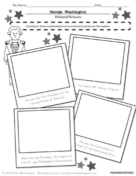 George Washington- 19 PAGES of Fun Activities