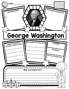 American President: George Washington Research Organizers for Poster Projects