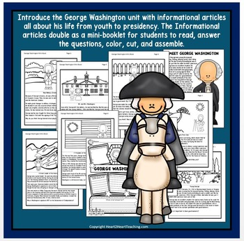 George Washington - U.S. President {Reading Passages, Activities & Flip Book}