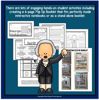 Presidents Day: The Life Story of President George Washington Activity Pack
