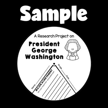 Presidents' Day Activities (George Washington Research Craft with QR Codes)