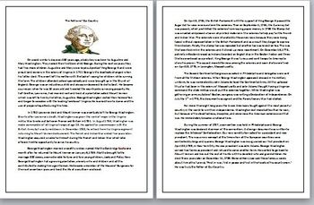 George Washington: A Comprehension Sheet